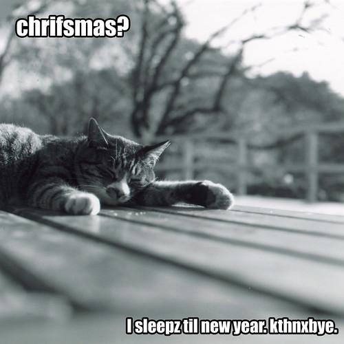 Chrifsmas? I sleepz til new year. kthnxbye.