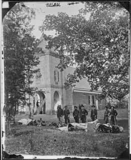 "St. Peter's Church, near the ""White House"", Virginia. (where G. Washington may have been married to Martha). Personnel as given in ""Pictorial History of Civil War"", Review of Reviews, 1911…"