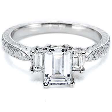 tacori three emerald cut setting item t ht2199