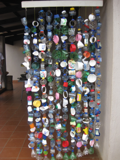 Recycled door hanging