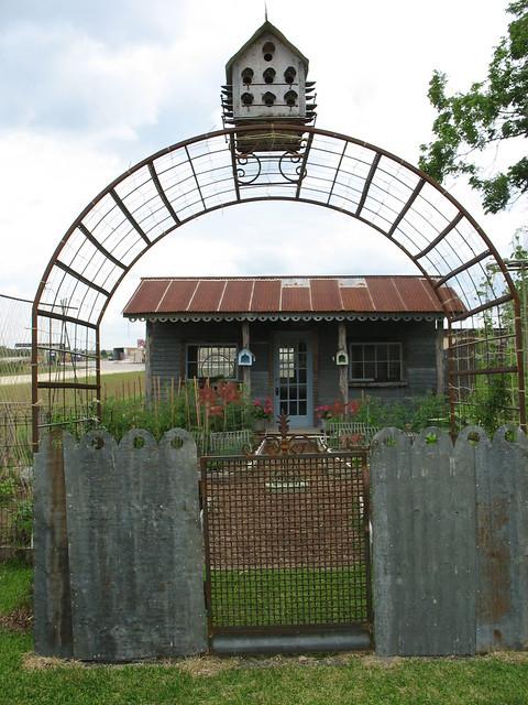 Garden Gate Arbor Birdhouse Flickr Photo Sharing