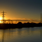 Sunset over the Pylon at Preston