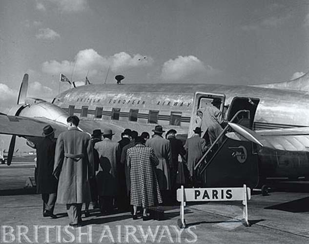 1940s - BEA Vickers Viking, Northolt-Paris departure
