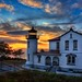 Admiralty Head Lighthouse Sunset HDR