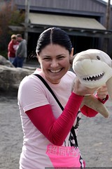 rachel and her new stuffed shark