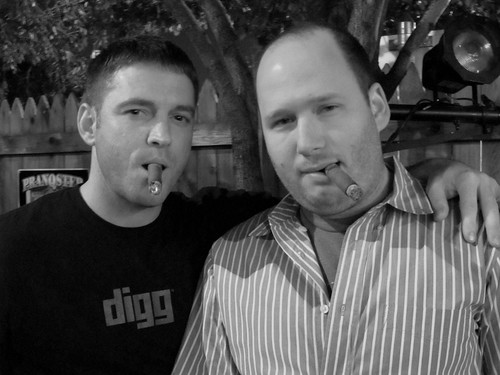 Jason & Barry Chomping Stogies