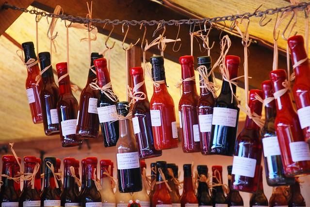 Bottles at Matakana Farmers Market