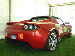 lotus(0.0), lotus elise(0.0), automobile(1.0), tesla(1.0), automotive exterior(1.0), tesla roadster(1.0), vehicle(1.0), automotive design(1.0), land vehicle(1.0), sports car(1.0),