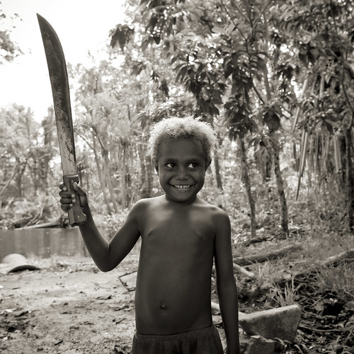 I'm a strong boy! Papua New Guinea