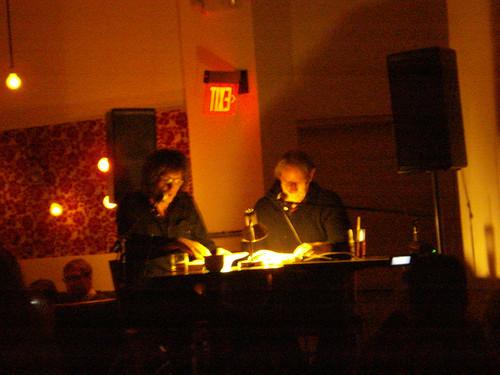 12/18/09 Mickey Leigh & Legs McNeil onstage at Nick & Eddie - Minneapolis, MN