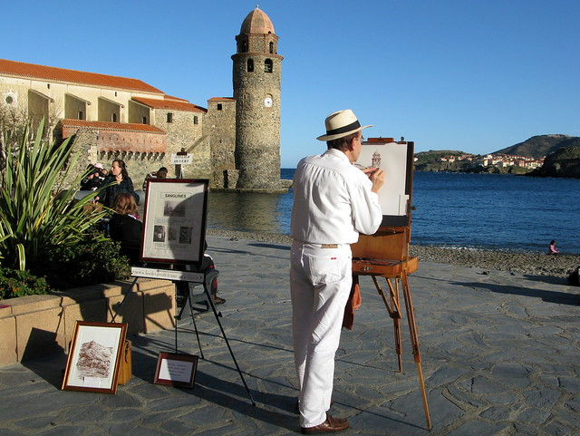 Hanging around Collioure....