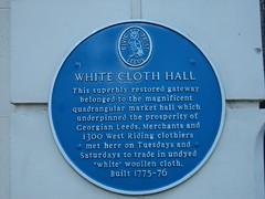 Photo of White Cloth Hall, Leeds blue plaque