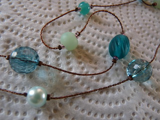 Necklace with teal theme