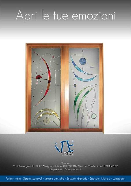 Porte scorrevoli in  vetro e rame , stained glass , glass door , tiffany glass