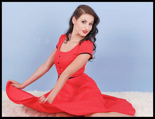 Vintage Dress Red