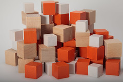 orange, wooden block, toy block, wood,