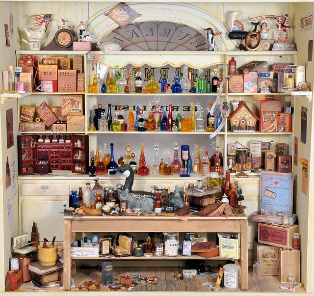 Miniature Pharmacy Charles Wysocki Dollhouse Miniature