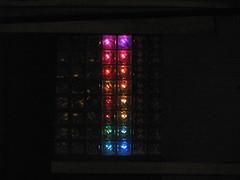 Glass Block Display (outside)
