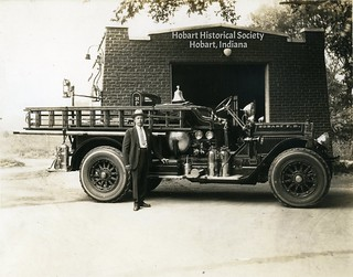Fred Rose with fire truck undated 2