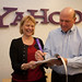 Steve Ballmer signs the Microsoft-Yahoo! agreement