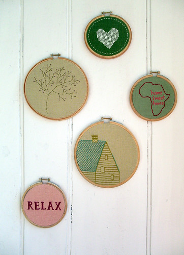Embroidery hoop gang