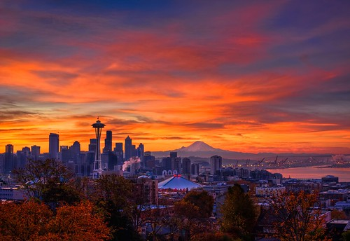 Seattle Autumnal Sunrise HDR