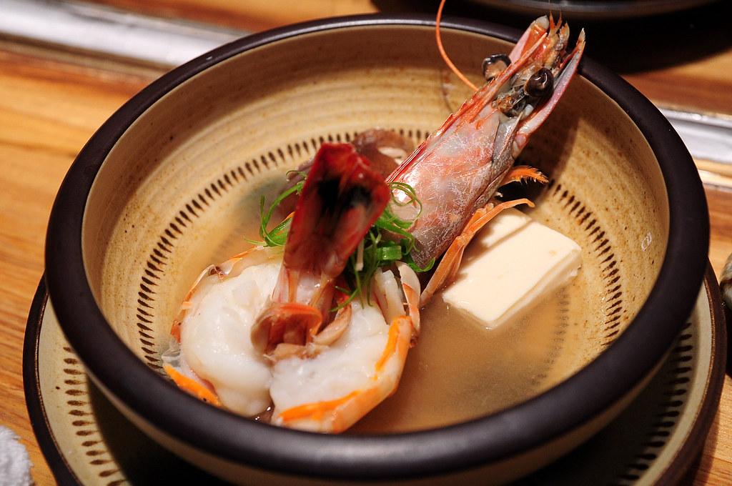 筌壽司-蝦豆腐湯