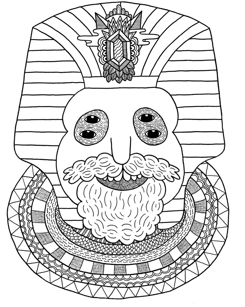 Free coloring pages of tut for King tut coloring pages