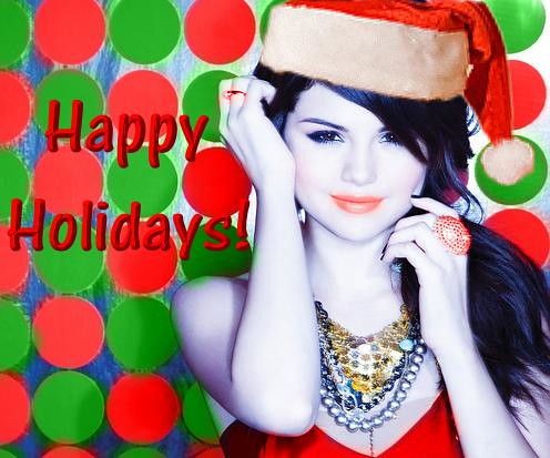 Selena Gomez Happy Holidays!