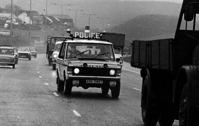 Range Rover on Patrol 1970s