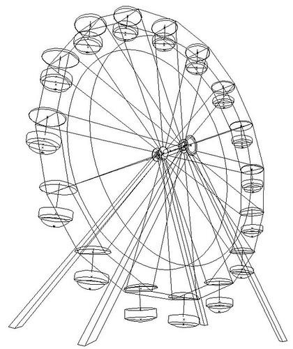 ferris wheel diagram sketch coloring page