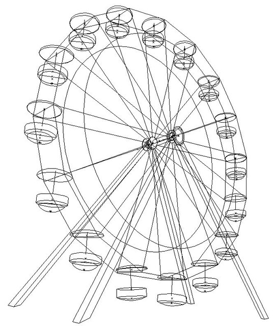 disney world ferris wheel coloring pages