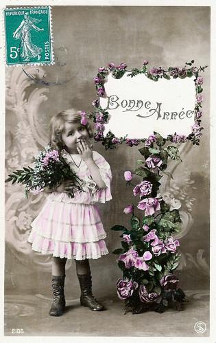Vintage Postcards - Bonne Annee - 01