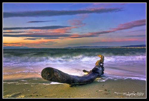 sunset sea sky beach landscape greece thessaloniki hdr ηλιοβασίλεμα ελλάδα παραλία τοπίο θάλασσα θεσσαλονίκη canon450d vertorama ουρανόσ
