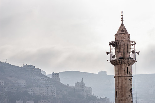 Upper section of minaret in Nablus