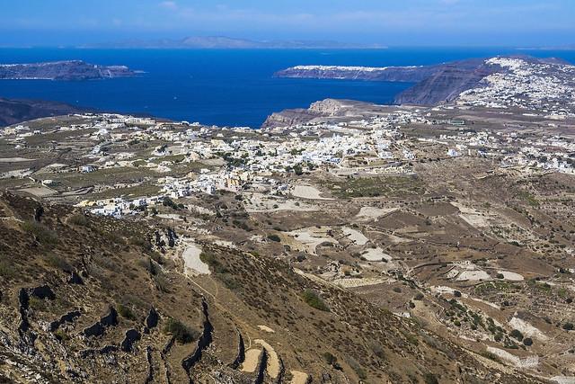 Panorámica de Santorini