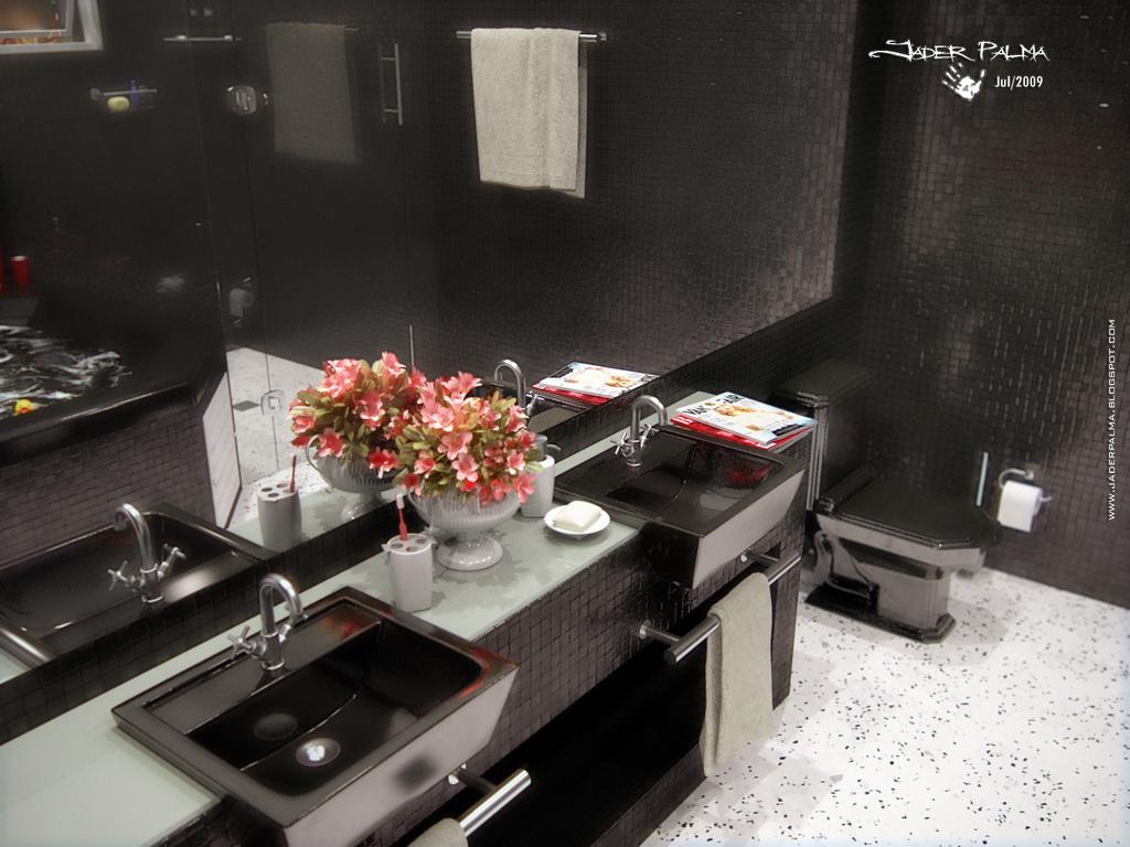 Banheiro com pastilhas cerâmicas 03 by Jader Palma