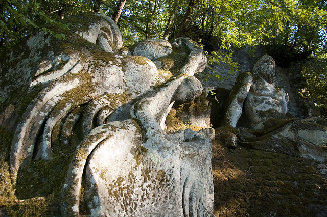 Weird Italy 3905120146_74b6c4a51f_z Gardens of Bomarzo, Arcane Park of the Monsters Italian History Magazine What to see in Italy  Viterbo Pier Francesco Orsini Park of the Monsters manieristic garden Lazio Garden of Bomarzo
