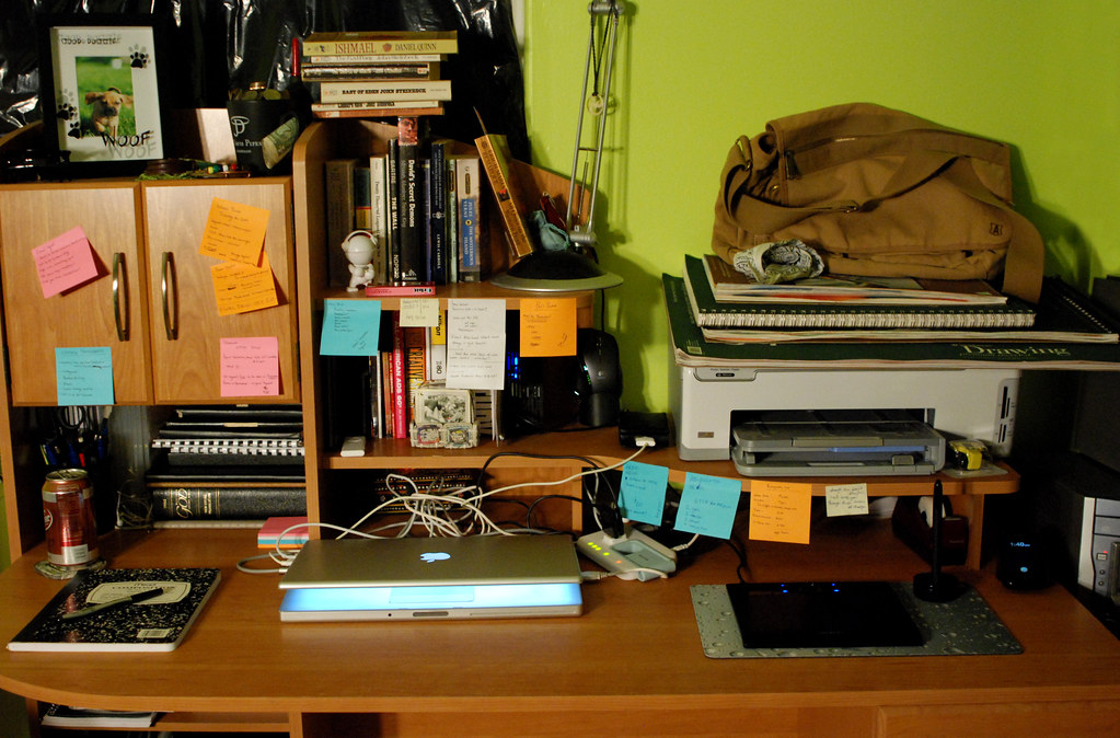 Desk: September 2009. Chaos.
