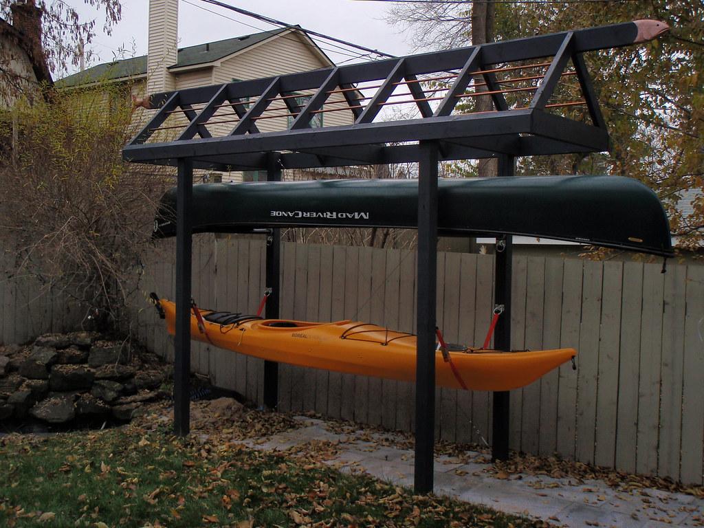 Kayak Stand Designs : Canoe storage rack plans omahdesigns