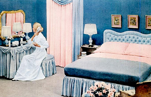 mid century living early 39 50s bedrooms 1950 55. Black Bedroom Furniture Sets. Home Design Ideas