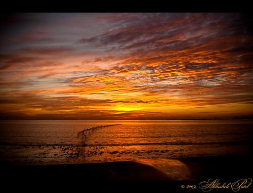 winter sunset orange dumas lens nikon kit abhishek patel gujarat surat d40 1855vr
