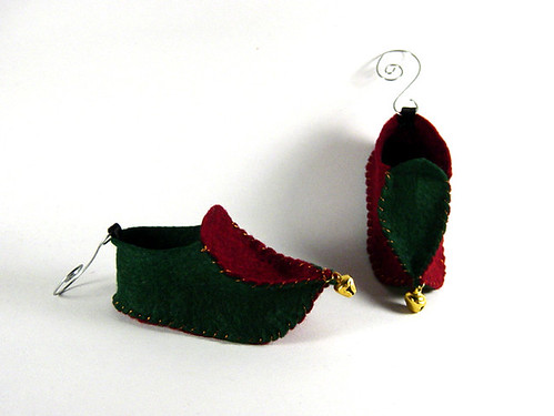 Elf Shoe Ornaments