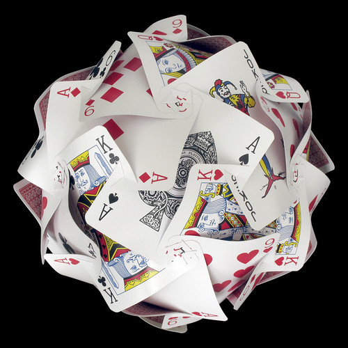 Playing cards sphere (slotted)