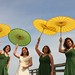 Parasols on the pier by the boastful baker