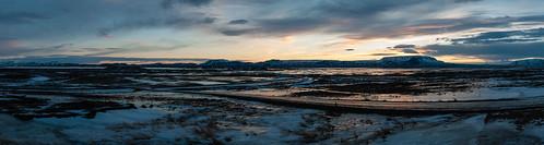 sunrise iceland landscape sky snow ice