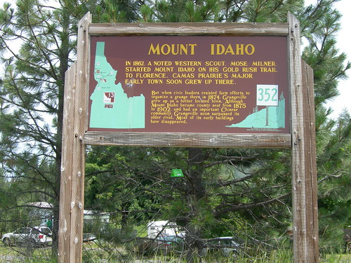 Mount Idaho Historic Marker