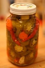 Pickling jalapeños this week. Yum.