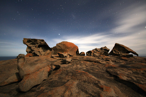 Remarkable Rocks at Night