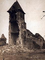 2éme bataille de la Marne - Contre-Offensive  de 1918 - Eglise de Dammard - (photo VestPocket Kodak Marius Vasse 1891-1987)